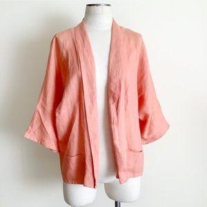 Zara | Linen Shawl Collar Jacket